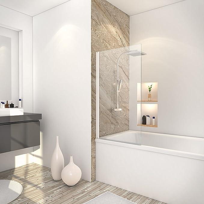 Schulte 4061554000164 mampara de baño con tapa, mampara de ducha ...