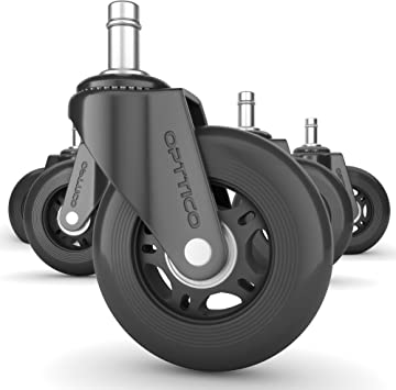 Office Chair Rubber Swivel Wheel Casters Tires Rollers Set of 5 #CS-55
