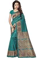 SAREE MALL art silk Saree With Blouse Piece (SRJ021_Green_Free Size)
