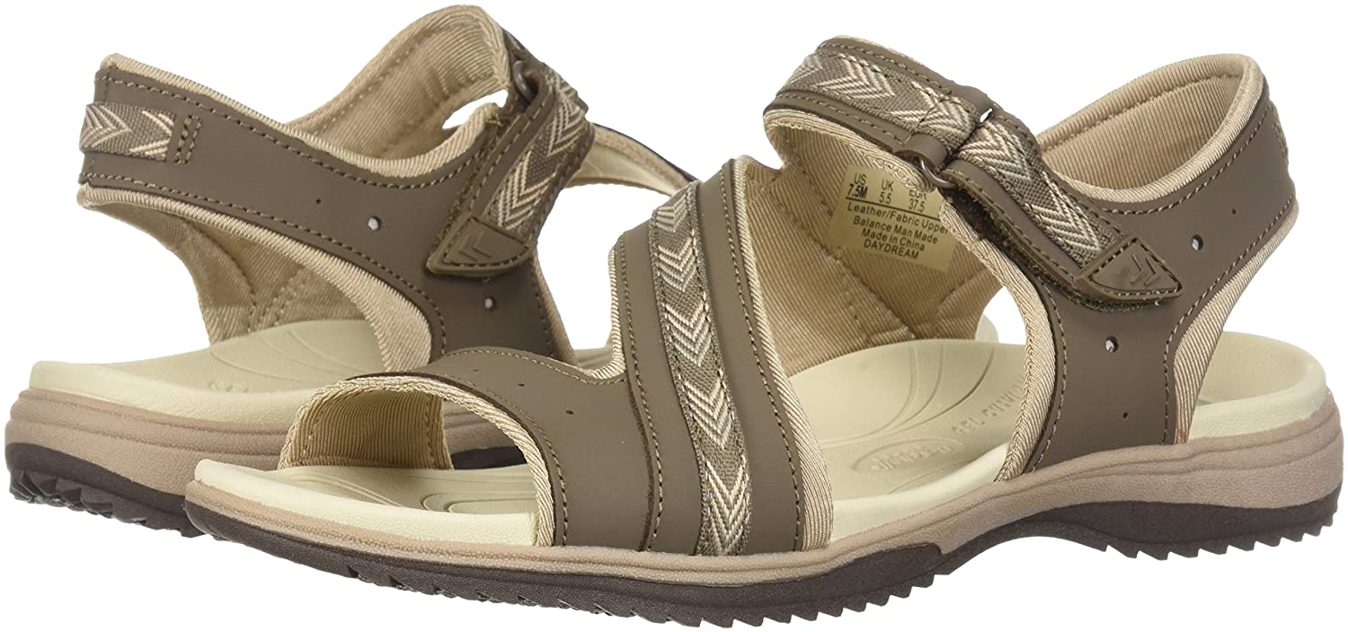 Dr. Scholl's Shoes Women's Daydream Slide Sandal B0767TTG23 11 B(M) US|Malt Taupe Action Leather