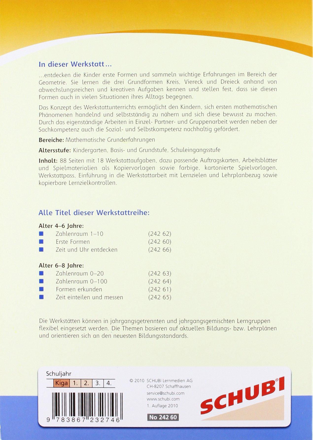 Werkstatt Mathematik: Erste Formen: 4 - 6 Jahre: Amazon.de: Susanna ...