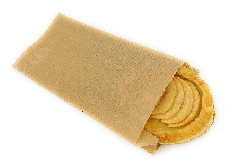 Bolsas papel kraft marrón para bocadillo o pastelería 14+ ...