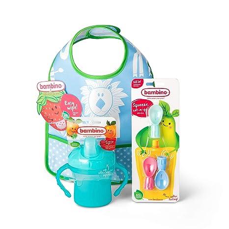 Bambino Juego de alimentación infantil, set de accesorios para bebés para comidas más limpias,