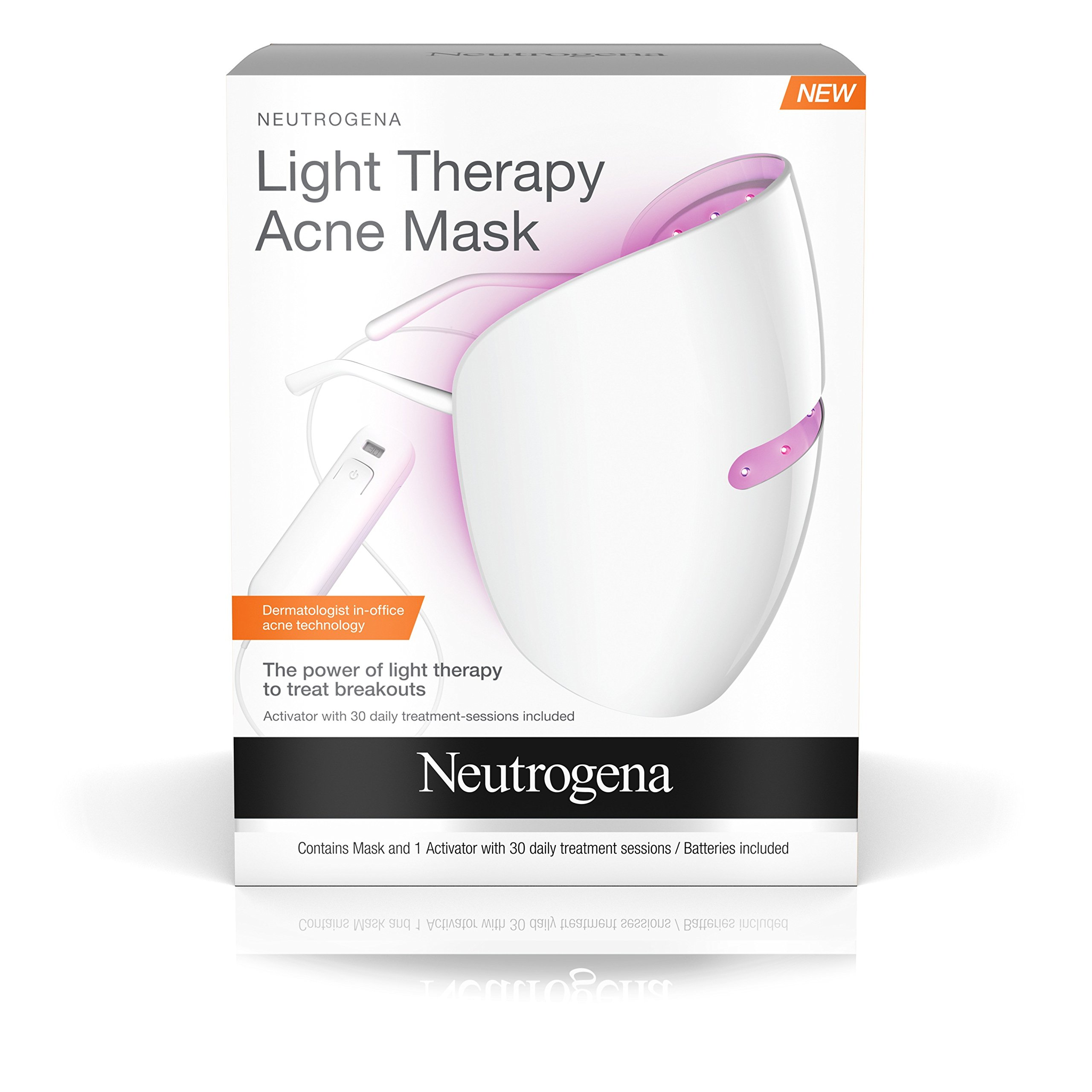 Neutrogena Light Therapy Acne Treatment Face Mask, Chemical U0026 UV Free With  Clinically Proven