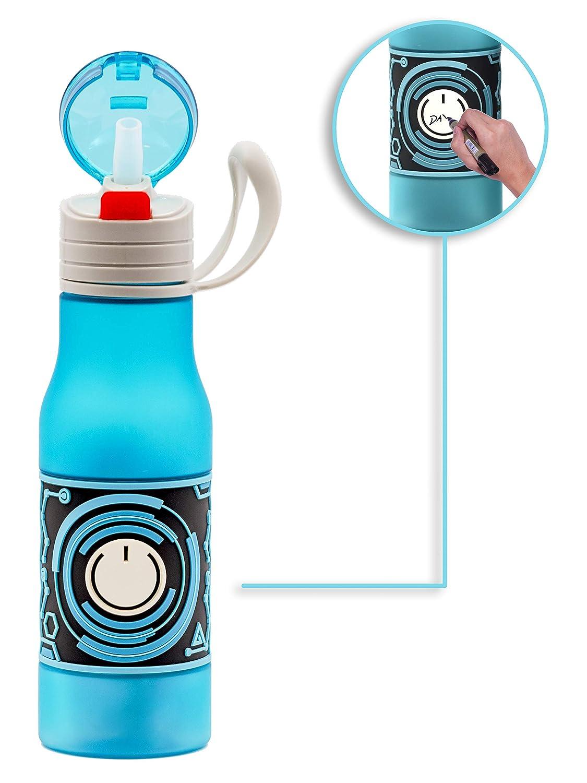 Amazon.com: Shemtag - Botella de agua tritana esmerilada ...