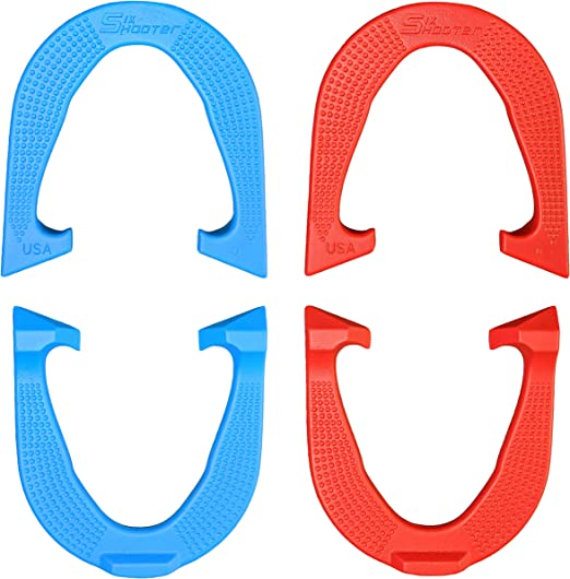 Six Shooter Pro Professional Pitching Horseshoes Made in USA Blue One Pair
