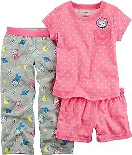 f0af43b5e Amazon.com  Carter s Baby Girls  3-Pc. Dog Jersey Pajamas  Clothing