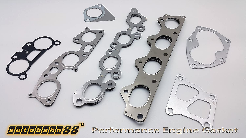 for Toyota Supra Soarer Chaser Aristo JZX100 JZX110 JZZ330 1JZ-GTE Turbo VVTi Autobahn88 Exhaust Manifold Gasket Set of 2 Pieces OEM: 17173-88410