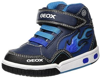 Geox Jr Gregg C, Baskets Hautes garçon  Amazon.fr  Chaussures et Sacs 96264e84e168