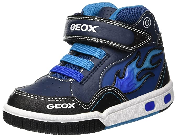 available beauty good quality Amazon.com | Geox Kids' Gregg 23 Light-up High Top Sneaker ...