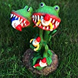 Garden Gnomes Statue, Carnivorous Flower Massacre, Great for Outdoor Indoor Patio and Lawn Decoration