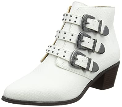 Triple Buckle, Bottines Femme, Blanc (White White), 37 EUMiss Selfridge