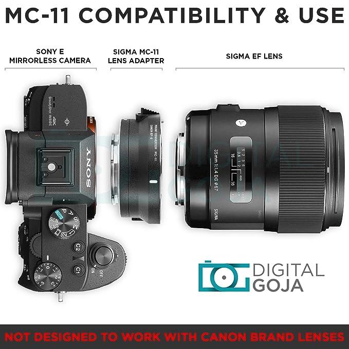 Sigma MC-11 Mount Converter Lens Adapter (Sigma EF-Mount Lenses to Sony E  Cameras) w/Essential Photo Bundle