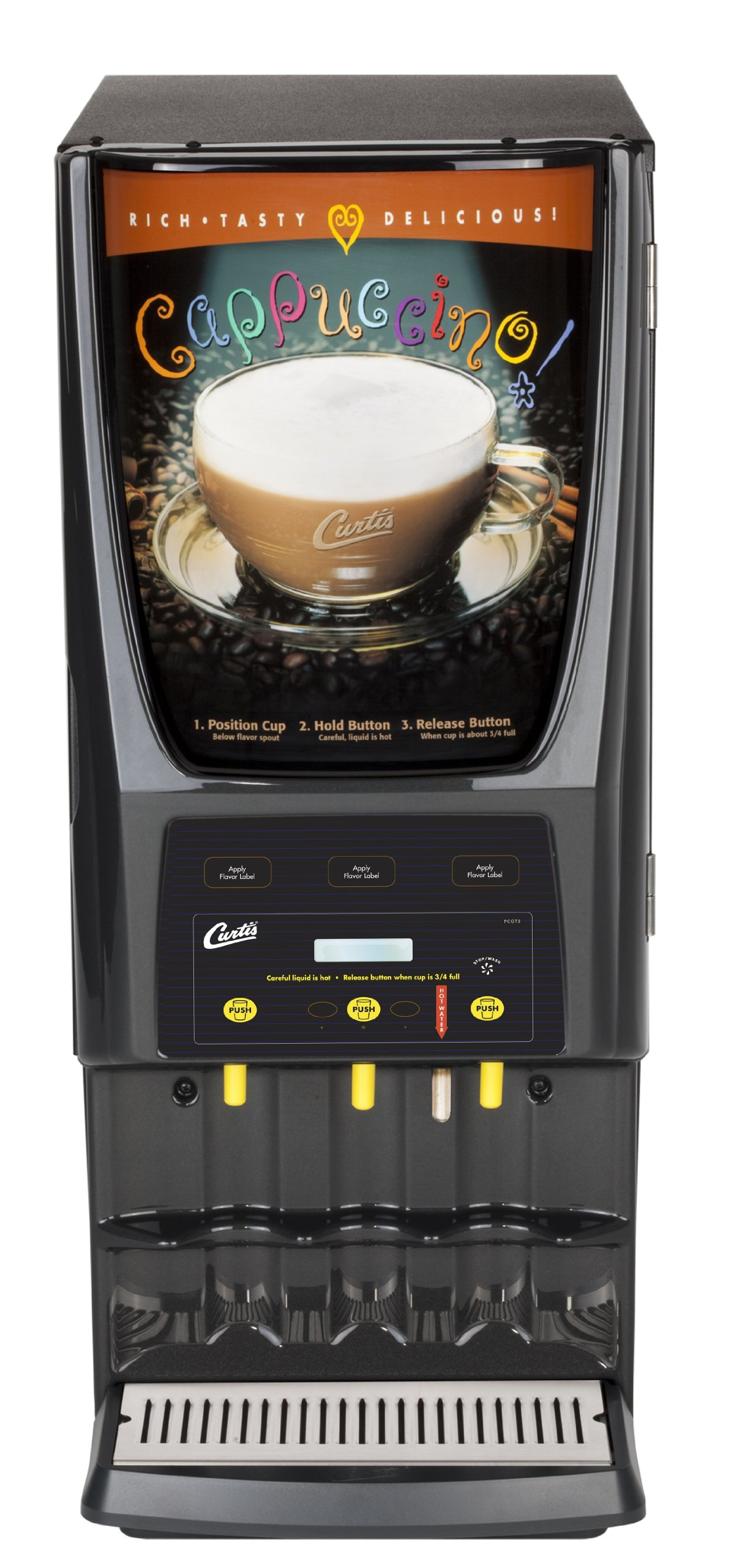 Wilbur Curtis G3 System 3 Station Cappuccino (One 5 Lb And Two 10 Lb Hopper) With Hot Water - Commercial Cappuccino Machine - PCGT3800 (Each) by Wilbur Curtis
