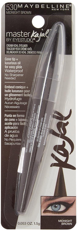 Amazon.com : Maybelline New York Eye Studio Master Kajal Eyeliner, Midnight Brown [530] 0.053 oz (Pack of 3) : Beauty