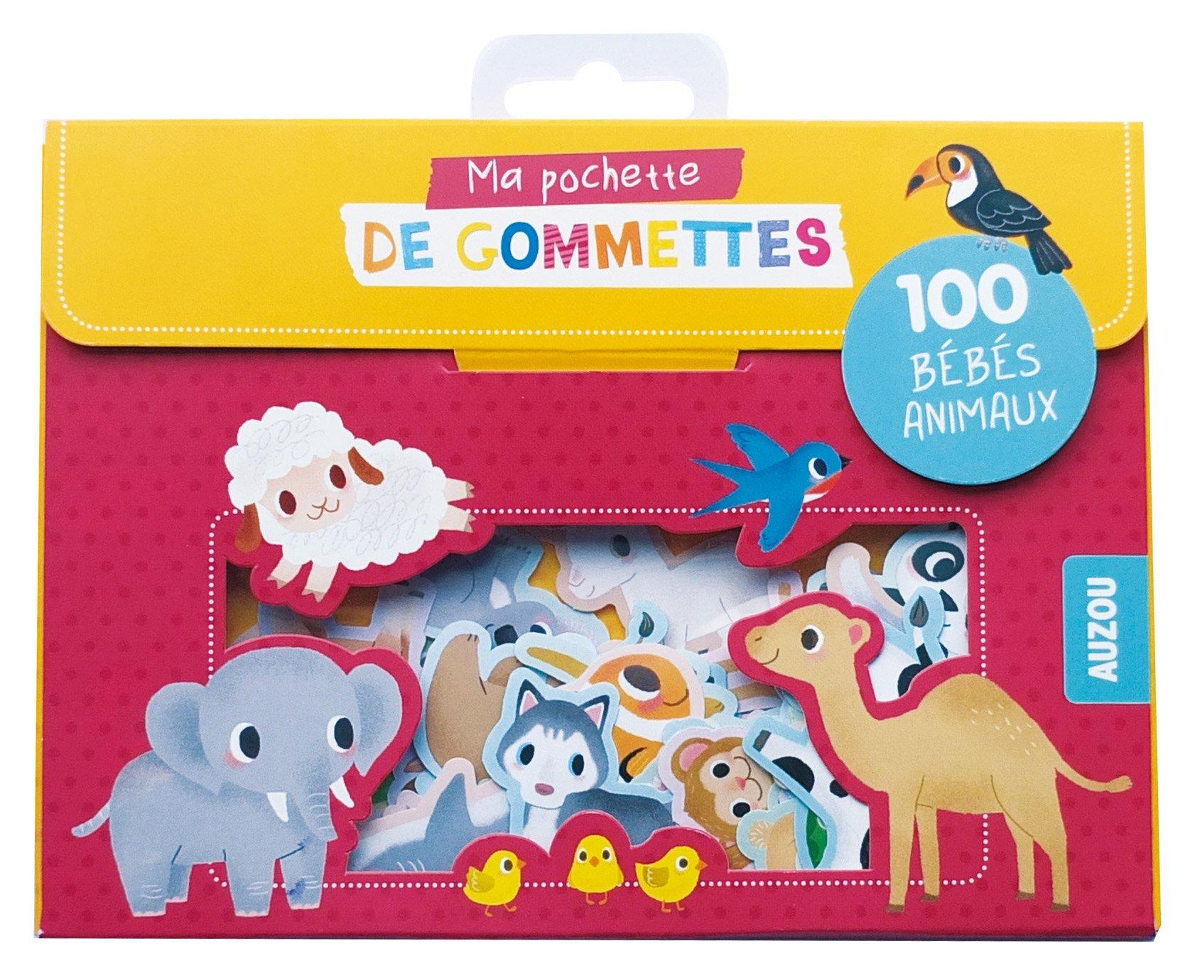 100 Gommettes Bebes Animaux Coll Ma Pochette De Gommettes Amazon