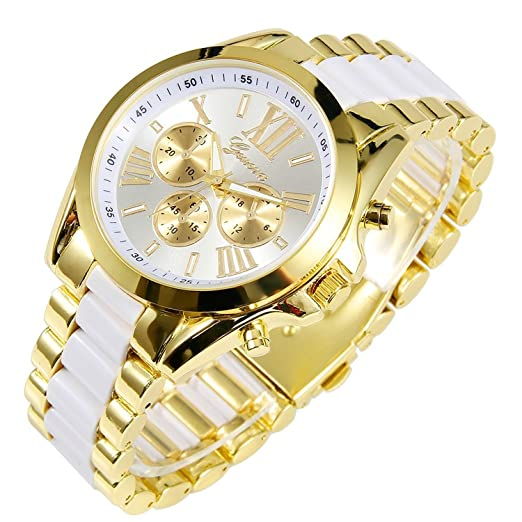 Image result for luxury men watch stainless steel bangle quartz analog wrist watch