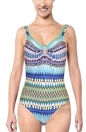 4ef28ab0f8 Tessy Beachwear Women's One Piece - Multicoloured - 38/12: Amazon.co ...