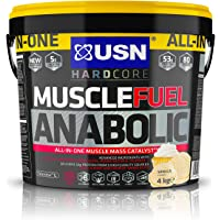 USN Muscle Fuel Anabolic Muscle Gain Shake Powder, Vanilla, 4 kg