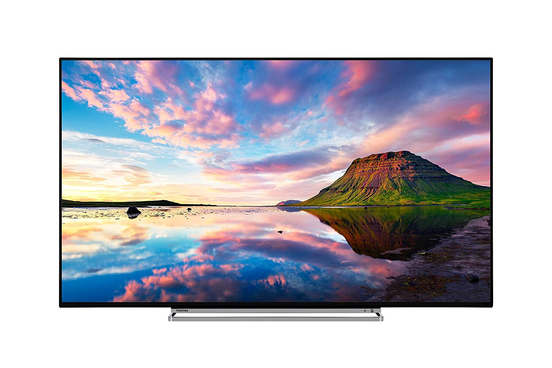 b9283322e08 Toshiba 49U5863DB 49-Inch Smart 4K Ultra-HD HDR LED WiFi TV with Freeview  Play - Black Silver (2018 Model)  Amazon.co.uk  TV