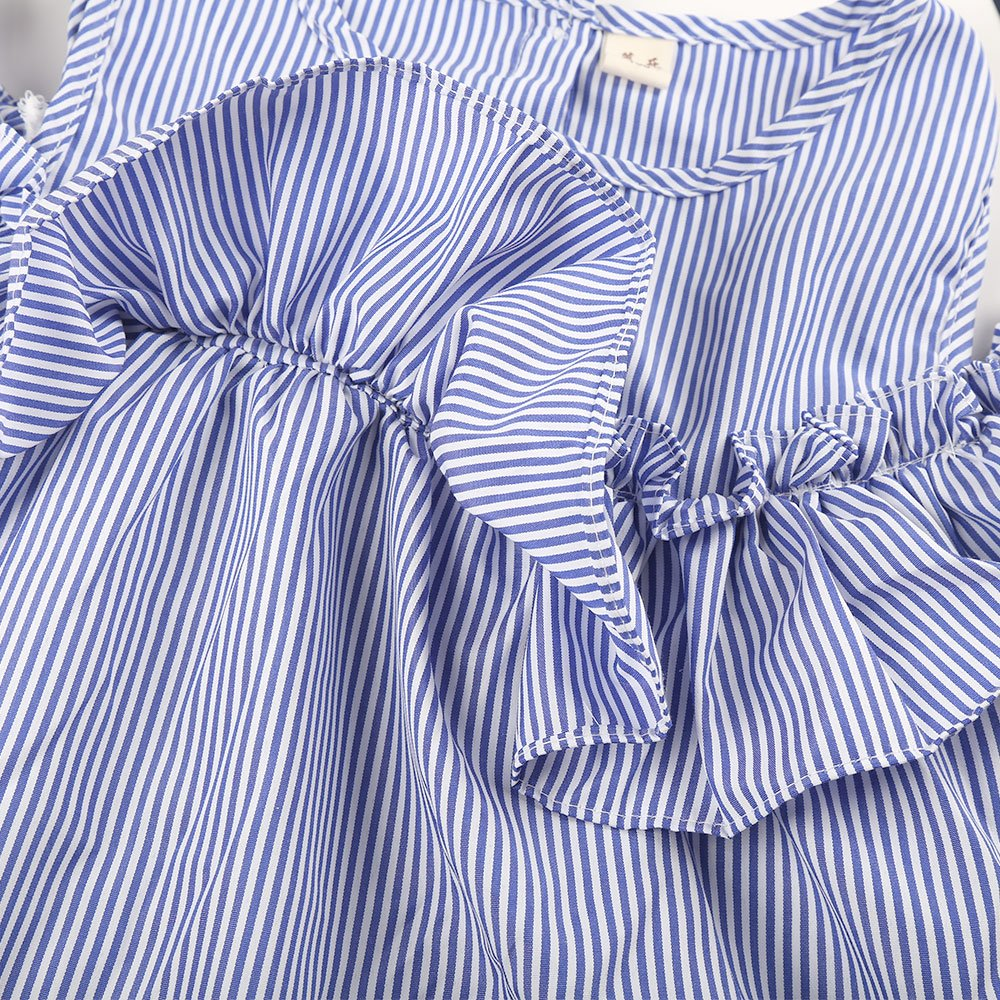 Robasiom Little Girls Dress Cotton Casual Short Sleeve Skirt for Summer Parenting Family Dress by Eden Babe (Image #2)