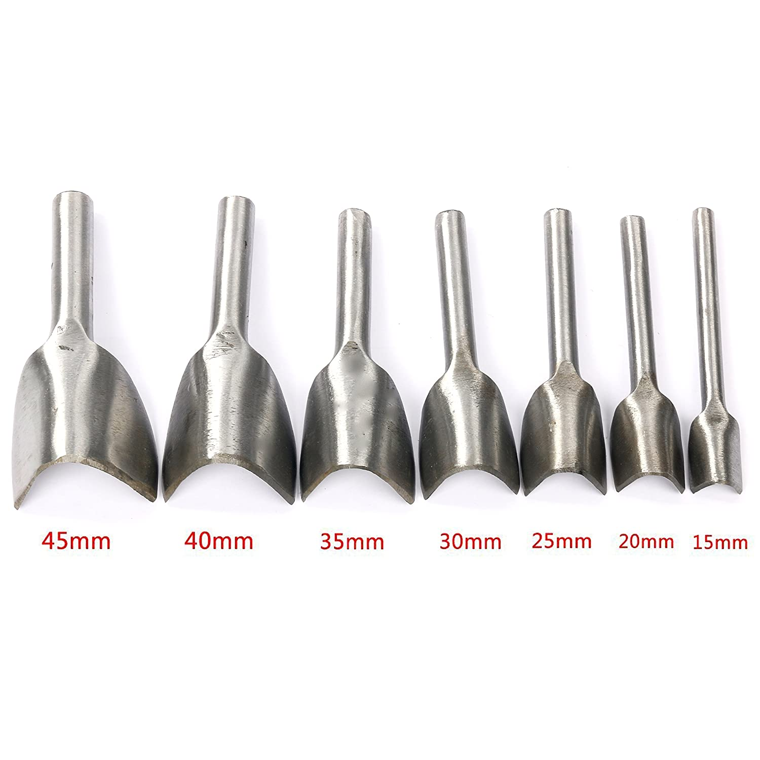 Yaetek Stainless Steel 6MM 2/4/6 Prong Row Hole Punch DIY Diamond Lacing Stitching Chisel Set Leather Craft Kits (6mm) Yaemart Corportation