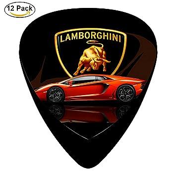 Rt Classic Celluloid Guitar Picks Lamborghini Car Logo 12 Pack Moto