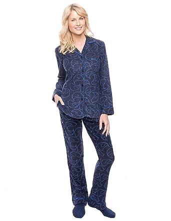 1c0c09ce6 Noble Mount Womens Microfleece Pajama Sleepwear Set at Amazon ...