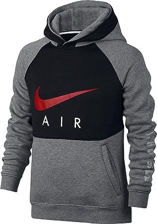 Nike B NK Air Hoodie Po Bf Kinder-Kapuzenpullover XS Grau (carbon heather  4b18fb2b36