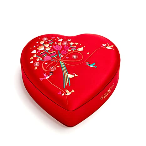 Amazon.com : Godiva Chocolatier Valentineu0027s Day 2018 Heart Gift Tin With 8  Pieces Individually Wrapped Chocolate Truffles : Grocery U0026 Gourmet Food