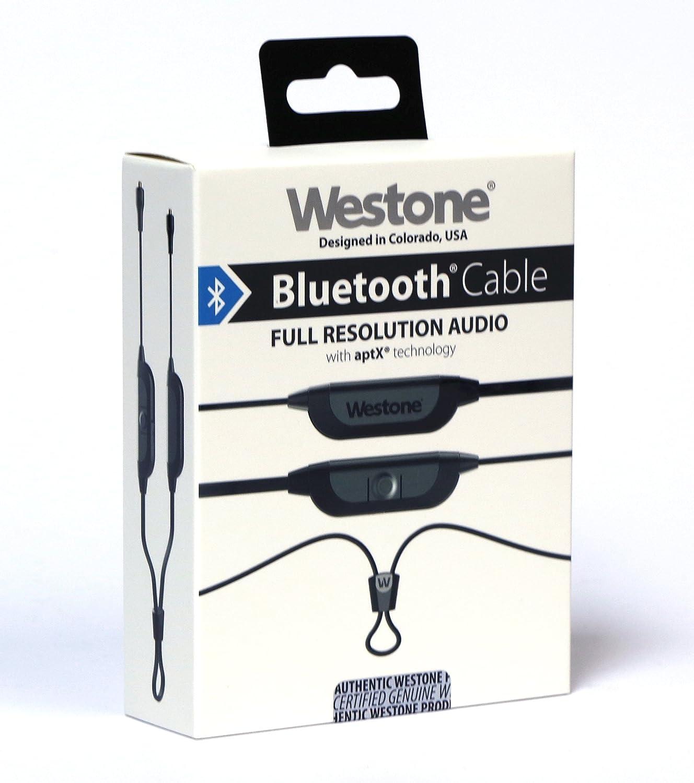 Westone - Auriculares Bluetooth y cable de monitor de oído con micrófono conector MMCX y 8 horas de duración de la batería (Compatible con Apple y Android): ...