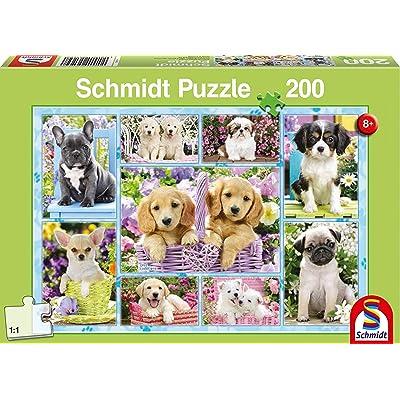 """Schmidt Spiele """"Puppies Puzzle (200 Piece): Toys & Games"""