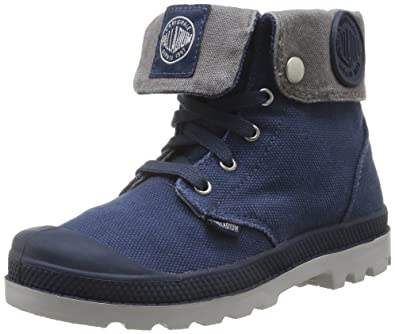 Palladium Baggy Zipper K, Derby mixte enfant, Bleu (323/Navy/Metal