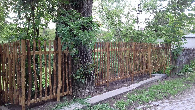 10 STK Zaunlatten Haselnuss 100 x 5 cm Natur Zaunbretter Staketen Latten zur Gartengestaltung Zaunbau oder als Wand und Decken Verkleidung