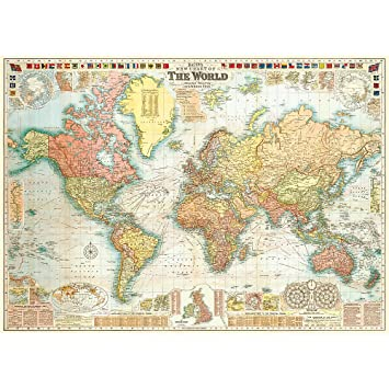 Amazon cavallini co world map decorative decoupage poster world map decorative decoupage poster wrapping paper sheet gumiabroncs Image collections