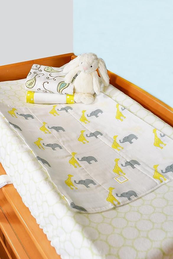 36 x 46 cm la raz/ón: Elefantes//Chicks Juego de 2 papel absorbente para los reci/én nacidos azul en colores pastel Azul Swaddle Designs