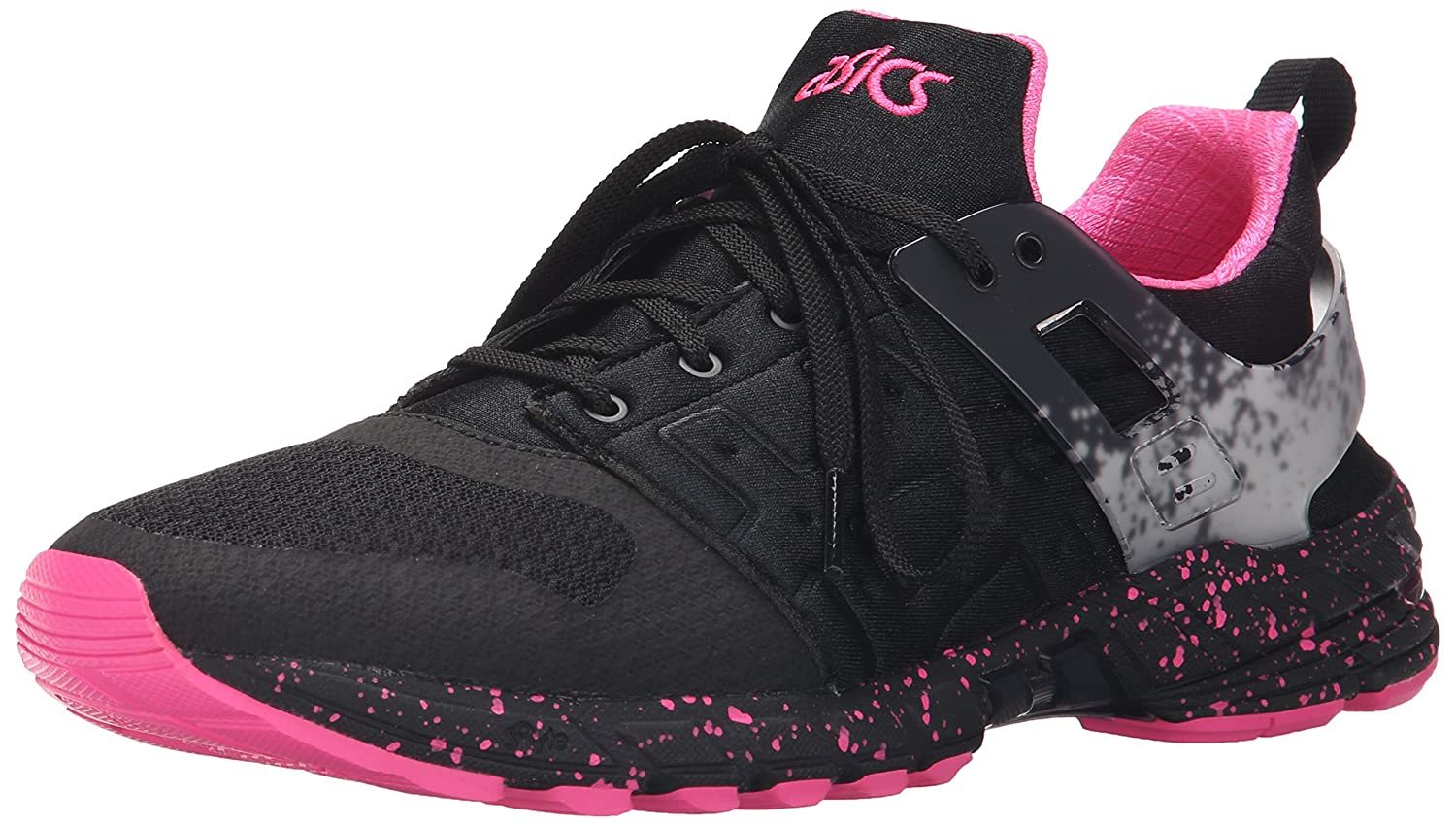 ASICS GT DS Retro Running Shoe B00ZQ4NR7S 9.5 M US|Black/Knock Out Pink