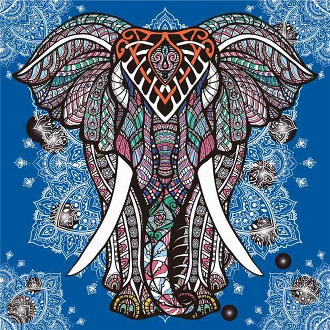 Weepo DIY Elephant-Pattern Rhinestone Diamond Painting Home Living Room Decor Art Cross-Stitch Kit
