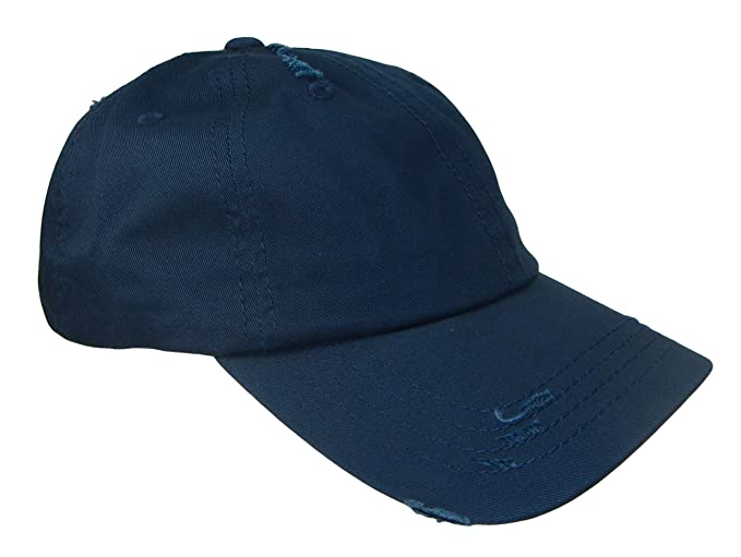 9487a351f910a Dad Hat - Frayed Weathered Vintage Style Low Profile Cap (One Size ...