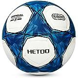 Hetoo Calcio Impermeabile,Miglior Pallone Da Allenamento E Partita Per Adulti E Bambini -Taglia 5, 4, 3. (Taglia 5)