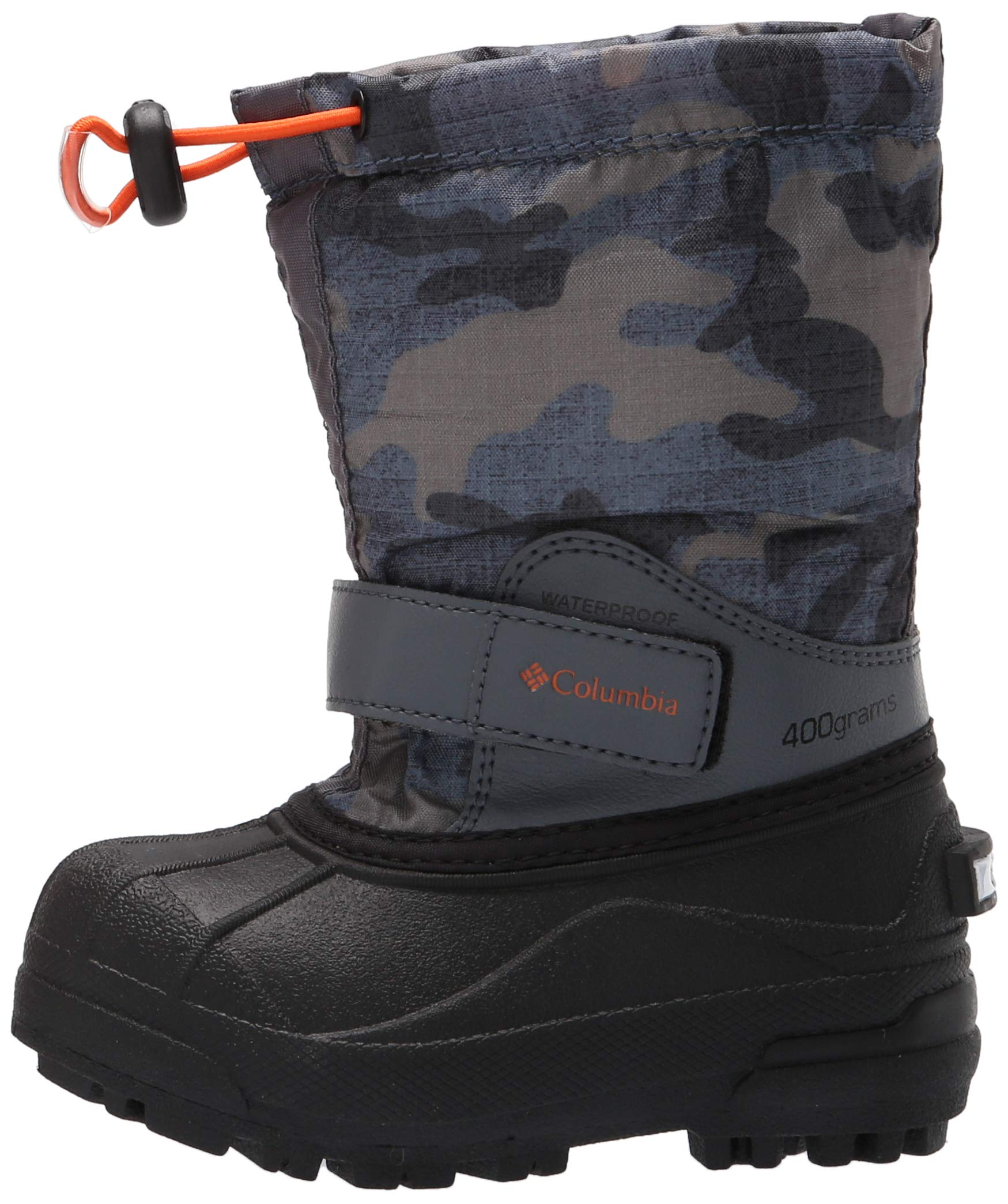 Columbia Boys' Childrens Powderbug Forty Print Snow Boot, Graphite, Heatwave, 8 Regular US Little Kid by Columbia (Image #5)