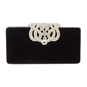 Borsetta con Tracolla da Donna Pochette con Diamante Elegante Borsetta da  Sera Portafoglio Lungo dae36c938b4