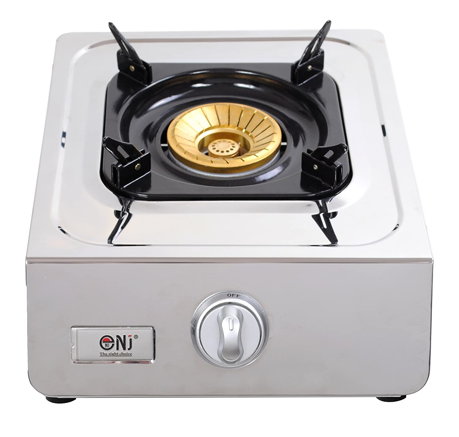NJ NT-2S Gas Stove 2 Burner Stainless Steel Portable Indoor ...