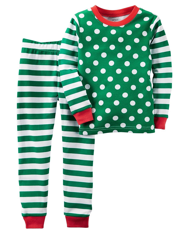 d9a1bf07b205 Amazon.com  Carter s Boys Santa Christmas 2-Piece Snug Fit Cotton ...
