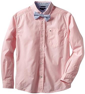 bdd4c3a33 Clothing Tommy Hilfiger Boys Long Sleeve Stretch Dress Shirt with Bow Tie