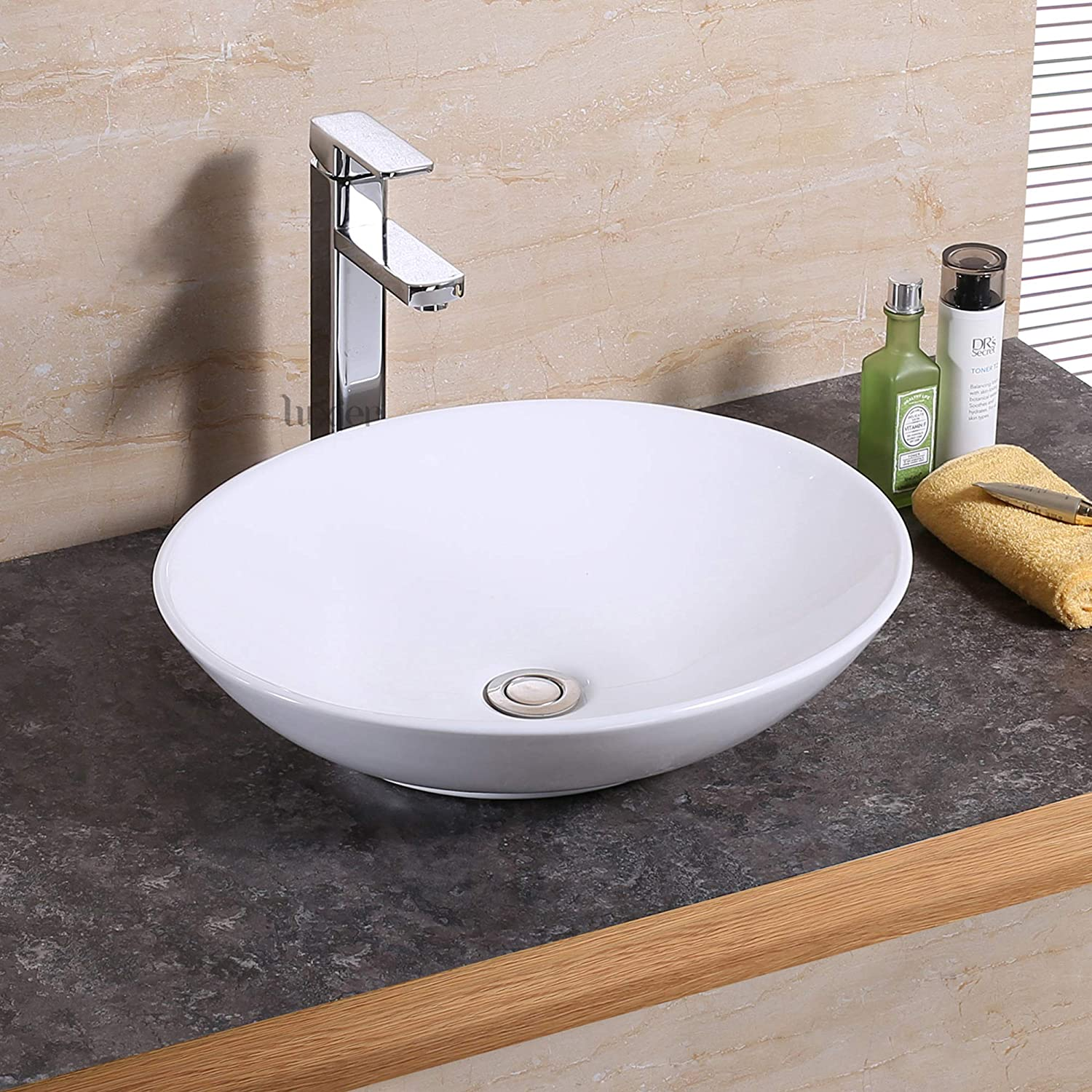 Luxier CS-023 Bathroom Porcelain Ceramic Vessel Vanity Sink Art Basin