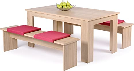 Dining Table And Chair Set Table Chairs Dining Group 1031 Rough Sawn Oak Amazon De Kuche Haushalt