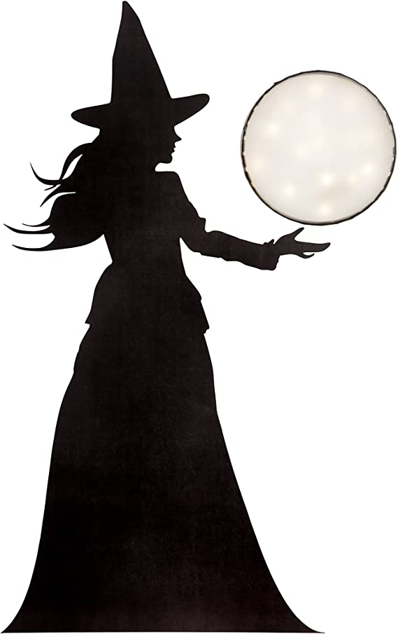 Halloween Decor Witch Hands Clear Window Cling 5-Pack 24x24 CGSignLab