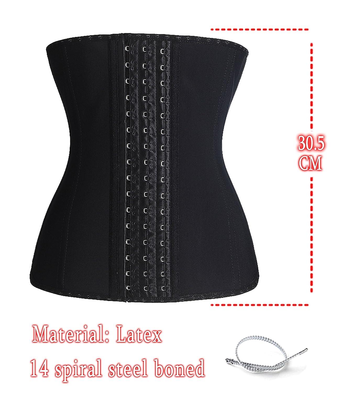 Gotoly Women's Latex Hourglass Anticurl Waist Cincher Training Corset