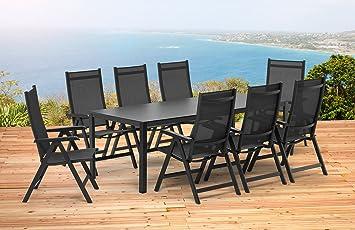 Kettler Bâle 1 table extensible 139/199 cm et 8 Chaise ...